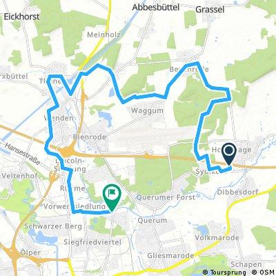 Hondelage - Bechtsbüttel -Thune - Schuntersiedlung