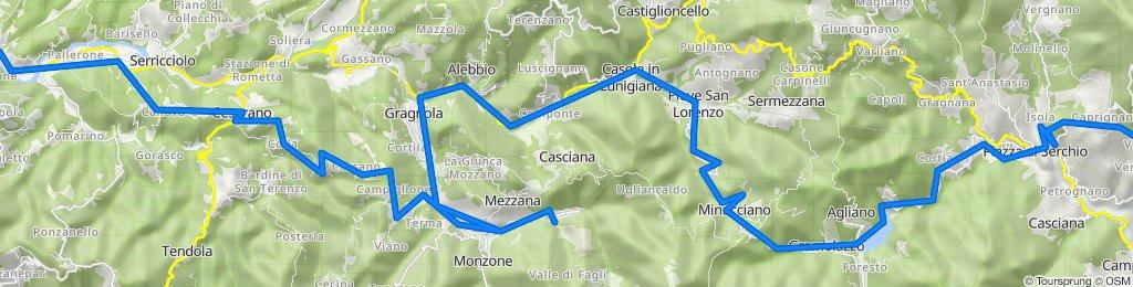 Aulla-Equi Terme-Minucciano-Piazza al Serchio-San Romano G.