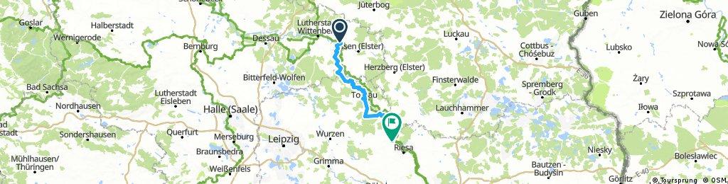 von Elster (Elbe) nach  Strehla