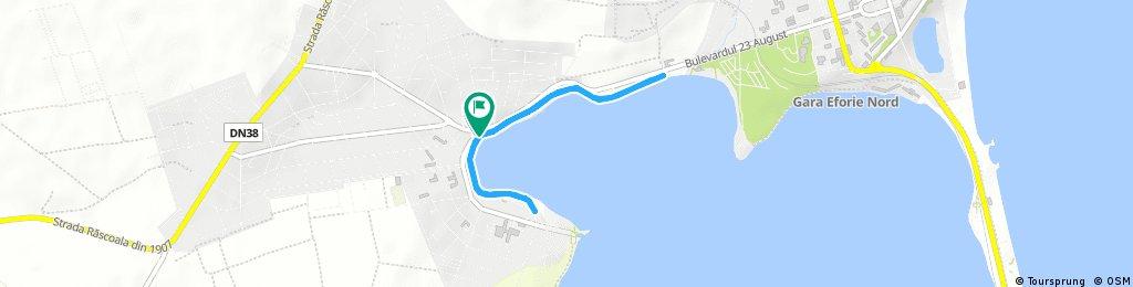 Quick ride through Techirghiol bike track