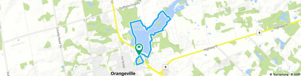 Quick ride through Orangeville - island lake and bit of path