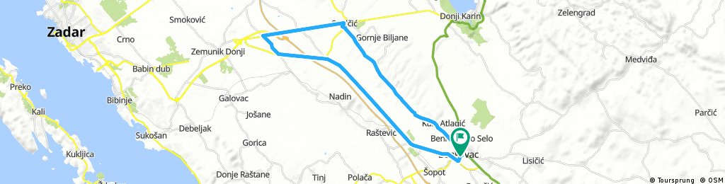 Lengthy bike tour through Benkovac