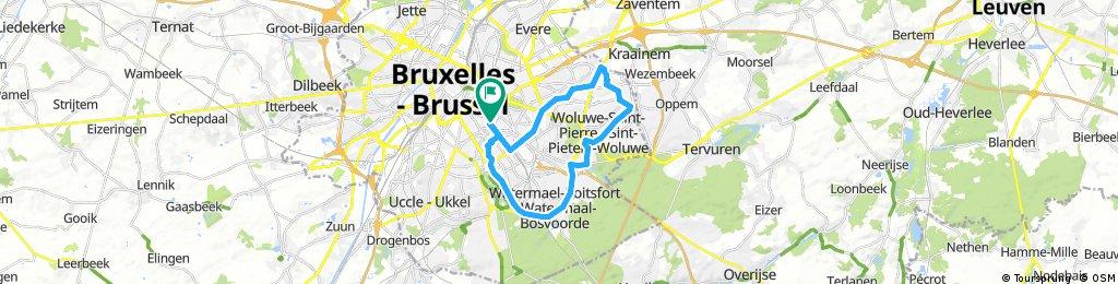 ride through Ixelles - Elsene