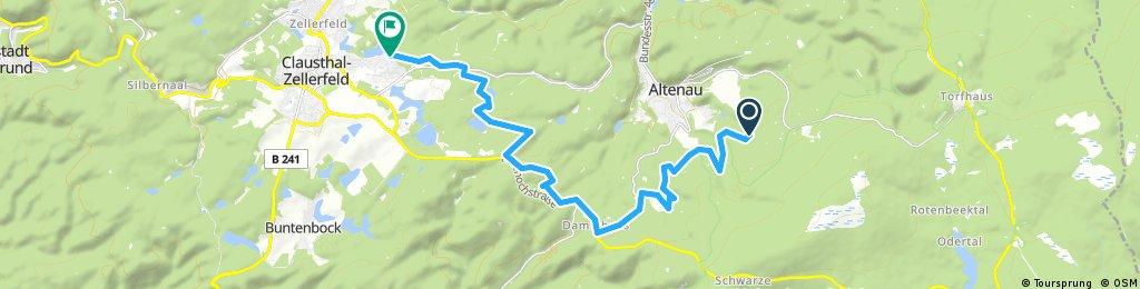 Ausfahrt durch Clausthal-Zellerfeld