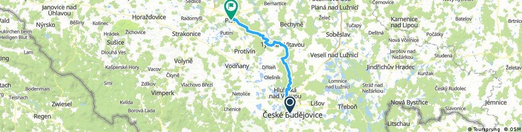 EuroVelo7 (Vltavska Cyklostezka) - from Ceske Budejovice to Pisek