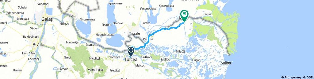 Lengthy ride through Chilia Veche