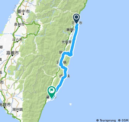 Hualien to Taitung