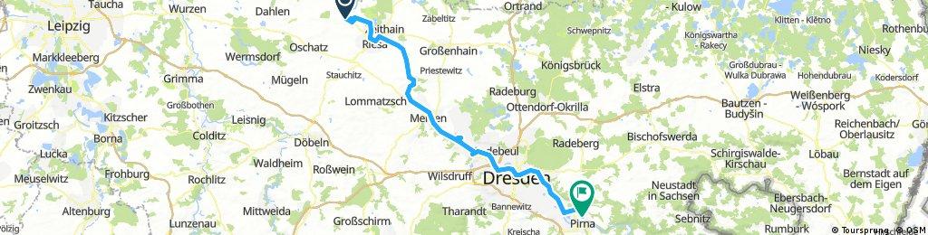 von Strehla nach Pirna
