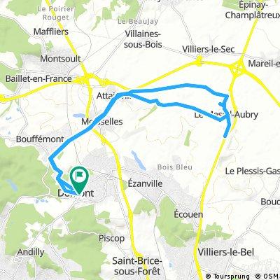 domont - mesnil Aubry via attainville