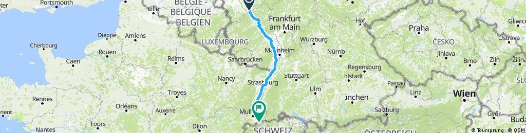 Königswinter - Maxdorf - Straßburg - Basel
