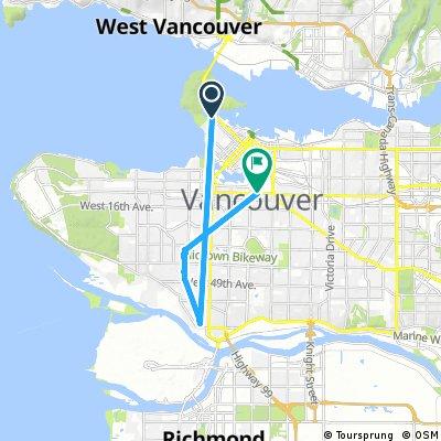 Short bike tour through Vancouver
