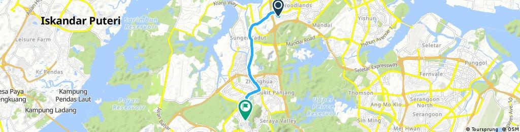 bike tour from Woodlands to Bukit Batok