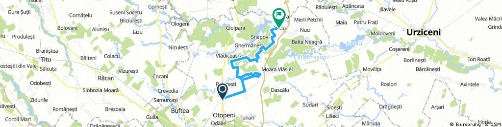 Long bike tour through Gruiu