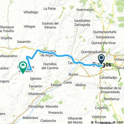 Etappe01a1: Anfahrt von Burgos nach Hontanas