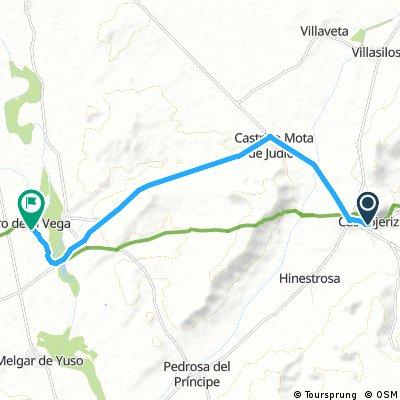 Etappe01a3: Autostrecke von Castrojeríz nach Itero del Castillo