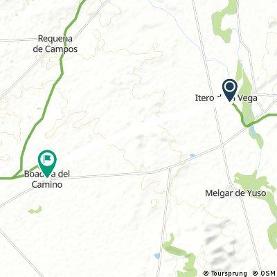 Etappe01a4: Laufstrecke von Itero nach Boadilla