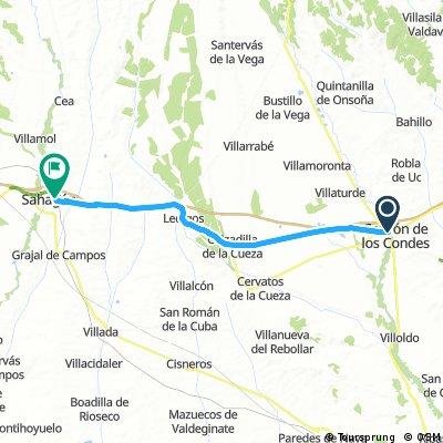Etappe03: von Carrion de los Condes nach Sahagun