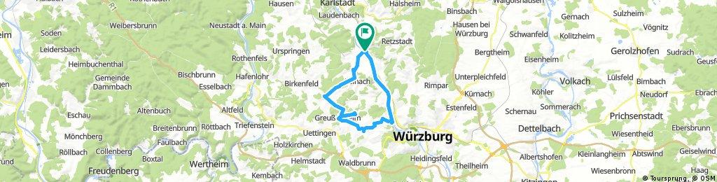 Zellingen-Leinach-Greussenheim-Hettstadt-Zell-Zellingen