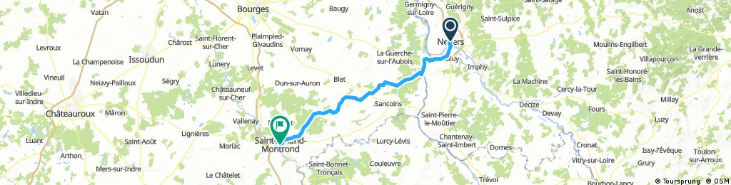 Nevers nach Saint-Amand-Montrond