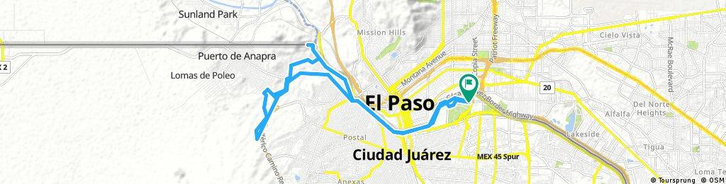 Lengthy bike tour through Ciudad Juárez