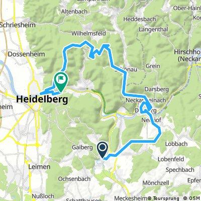 Bammental - Dilsberg - Weißer Stein - Heidelberg
