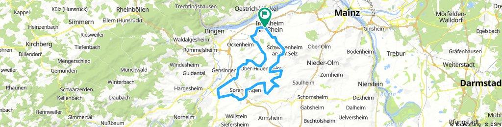 032e Ingelheim - Ober-Hilbersheim - Welgesheim - Pfaffen-Schwabenheim - Wolfsheim - Partenheim - Schwabenheim - Ingelheim