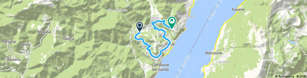 bike tour through Tremosine sul Garda