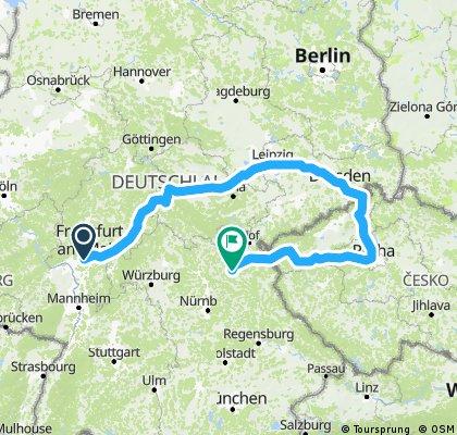 every year - 1994 - von Frankfurt über Prag nach Bayreuth