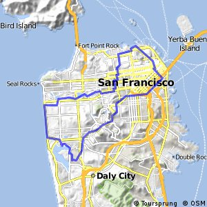 Cycling routes and bike maps in and around Daly City Bikemap