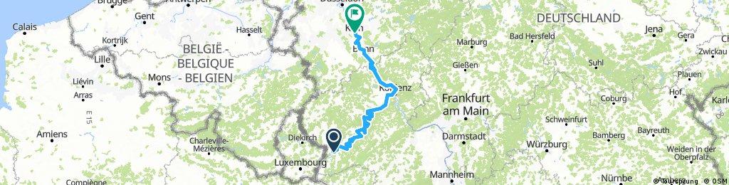1, 2, 3, 4 Trier (Rhein-Mosel-Radweg bis Köln)