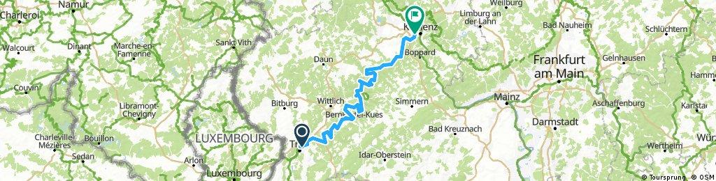 Mosel von Trier nach Koblenz