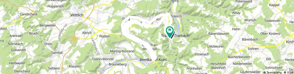 Traben -Mosel BernkastelKues - anderses Moselufer zurück nach Trabach