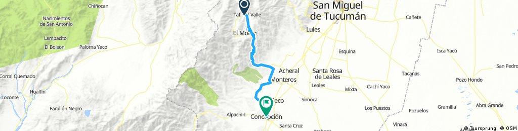 Etapa 6  Tafi del Valle a Concepcion