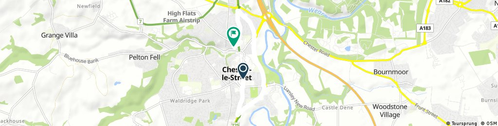 Quick bike tour through Chester-le-Street home from gyn