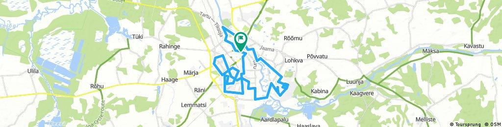 Long bike tour through Tartu