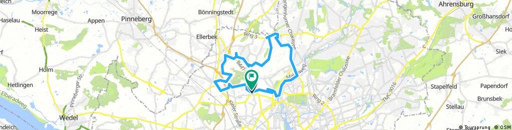Lange Radrunde durch Hamburg