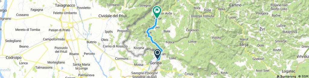 Ob Soči od Nove Gorice do Kanala