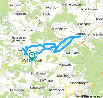 Lange Radrunde durch Leonberg