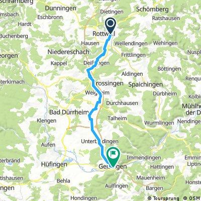 BaWü 020a: Vom Neckar zur Donau (Alt.-Route Rottweil - Geisingen)