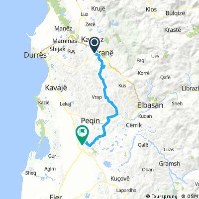 Tirana - Lushnje 75km 830hm