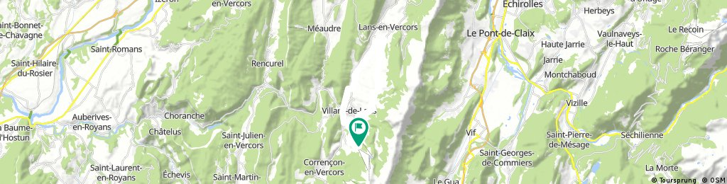 ride through Villard-de-Lans