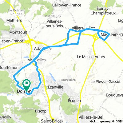 25km domont mesnil aubry