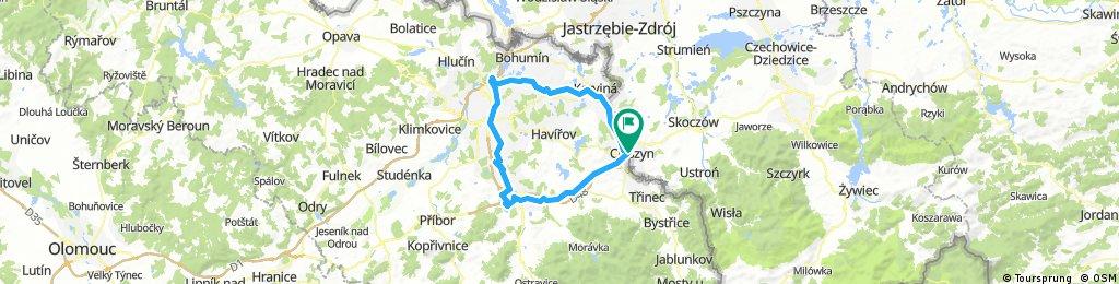 Ostrawica Śląska granica (północ)