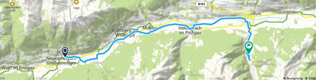 Tauernradweg bis Mittersill rechts ins Tal (Hintersee)