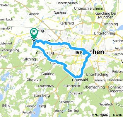 Eichenau Isar Oktoberfest und zurück