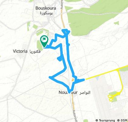 bike tour through Bouskoura بوسكورة