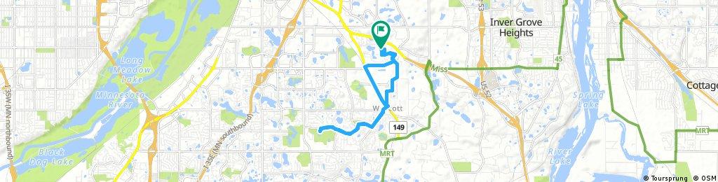 bike tour through Eagan