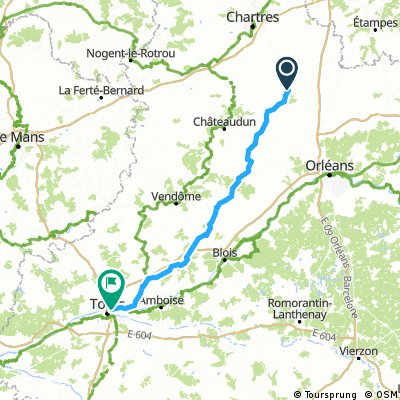 J005 - 04 Juin - Voves (Viabon) to TOURS (Amboise)
