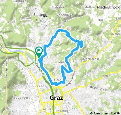 Radrunde durch Graz 1234