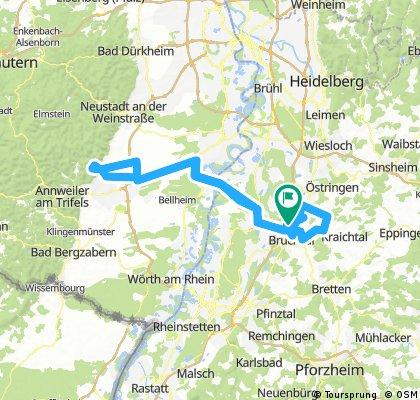 Lange Radrunde durch Forst burrweiler